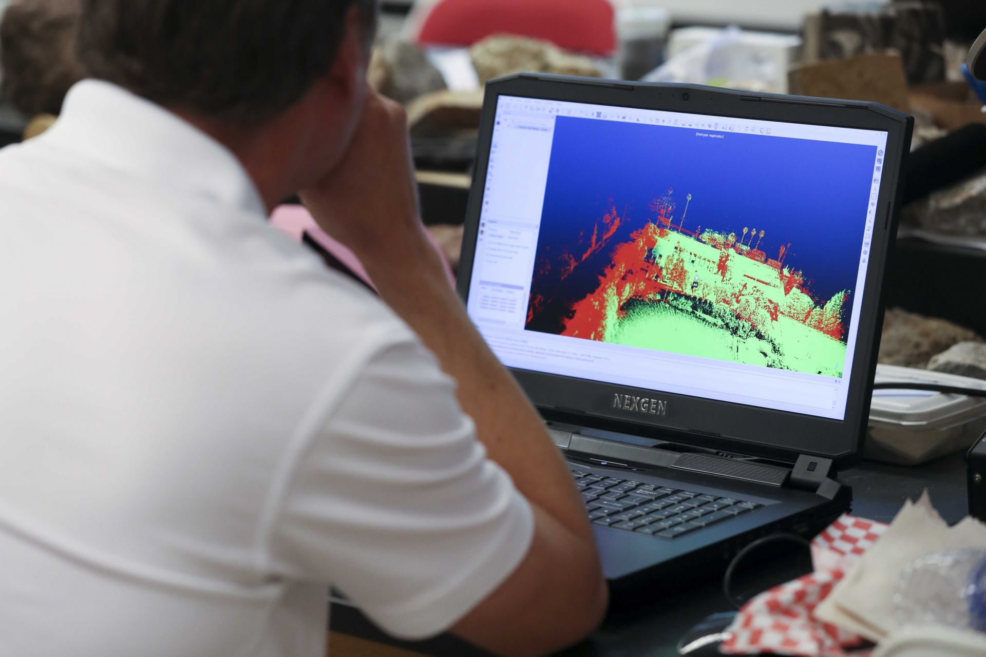 A LIDAR training session, Feb. 2020