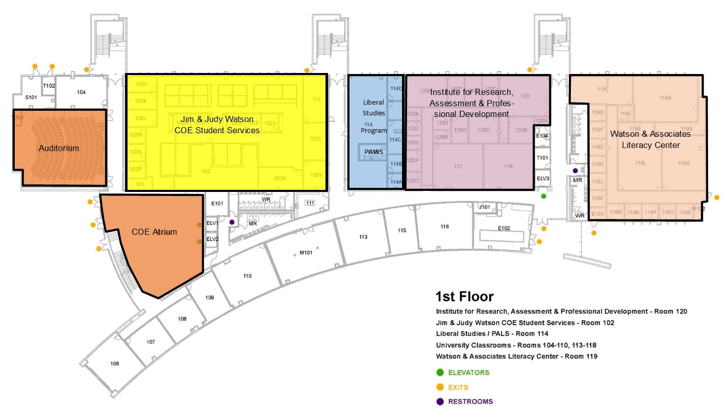 1st Floor Map - College of Education Building