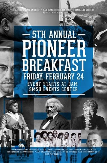 CSUSB Black Faculty, Staff and Student Association 5th Annual Pioneer Breakfast