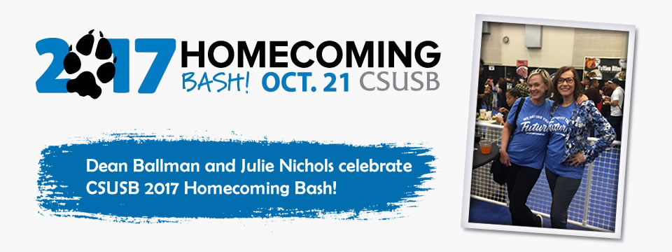 Ballman and Nichols celebrate CSUSB 2017 Homecoming Bash!