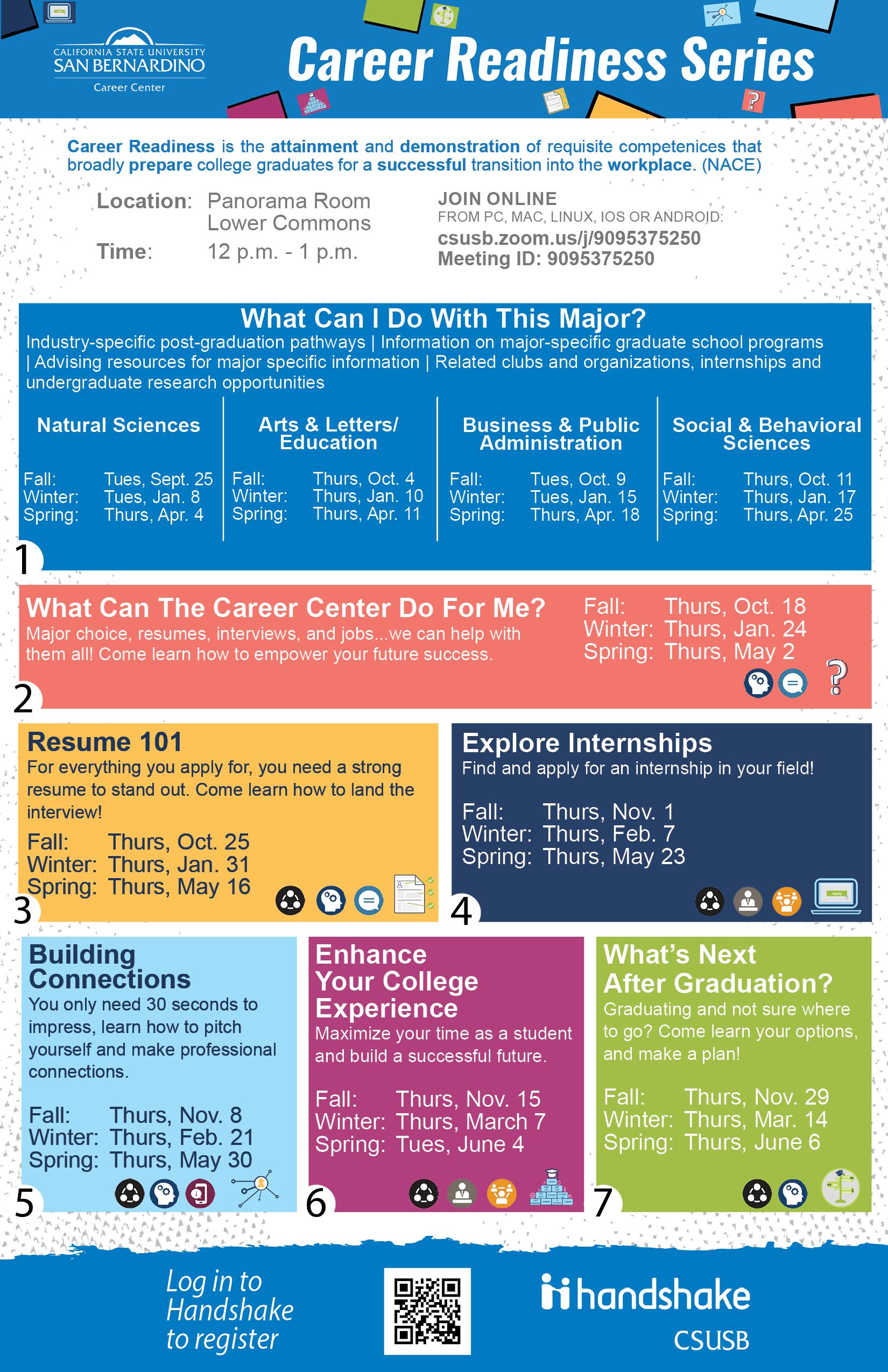 Career Readiness Workshops - Career Center