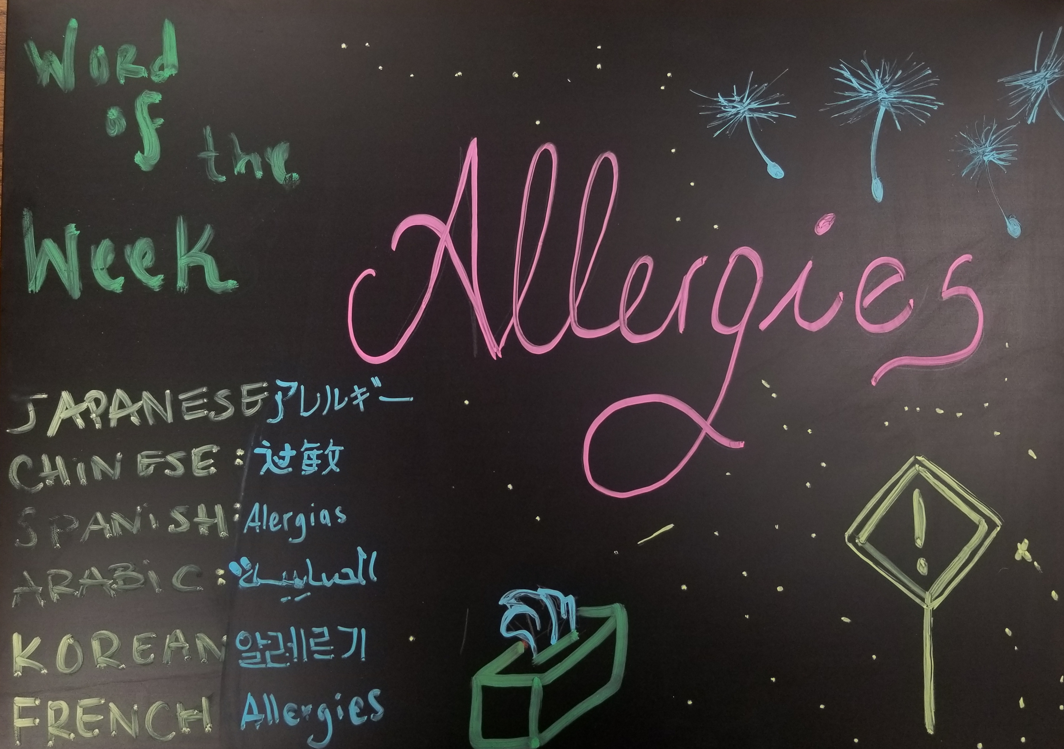 Word of the week, Allergies