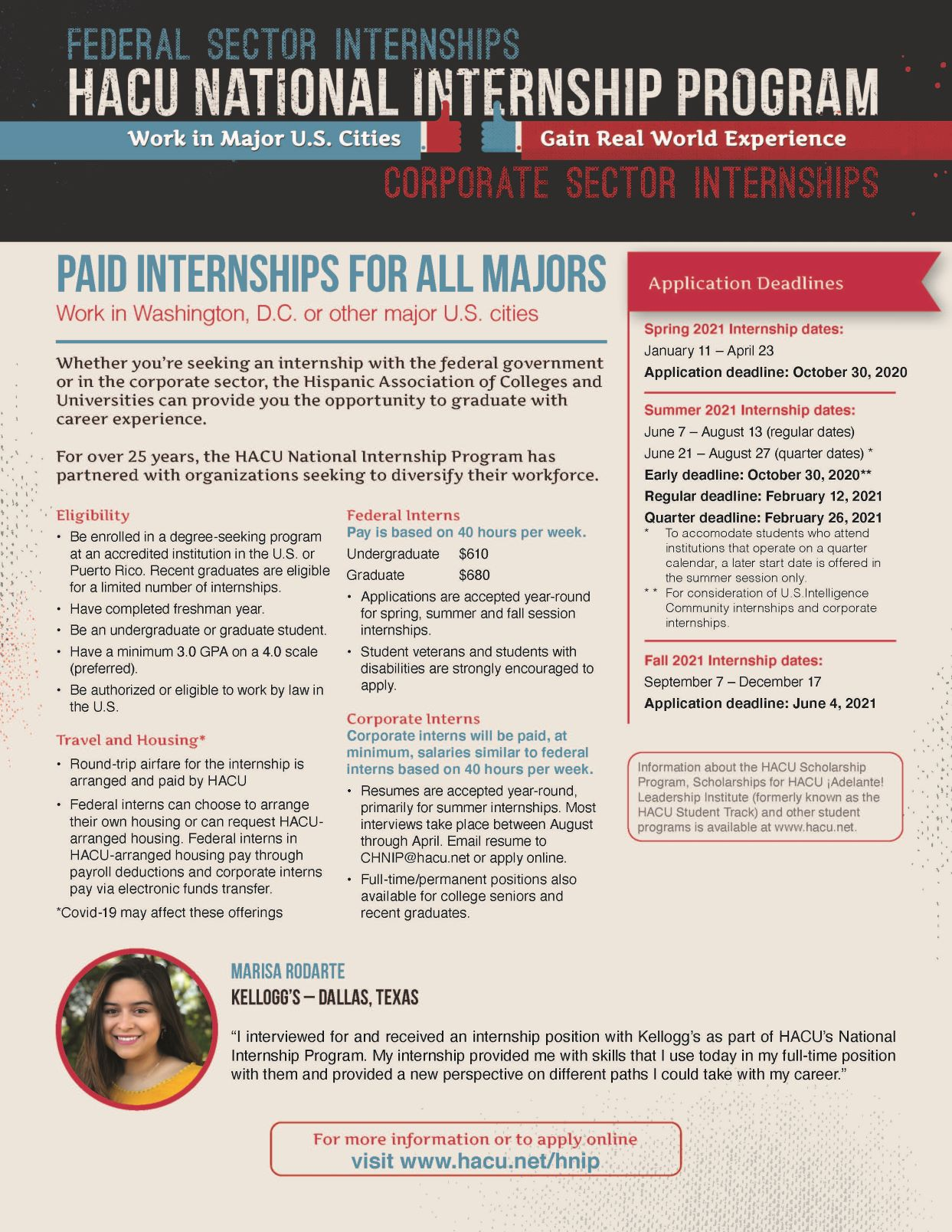 2021 HACU National Internship Program