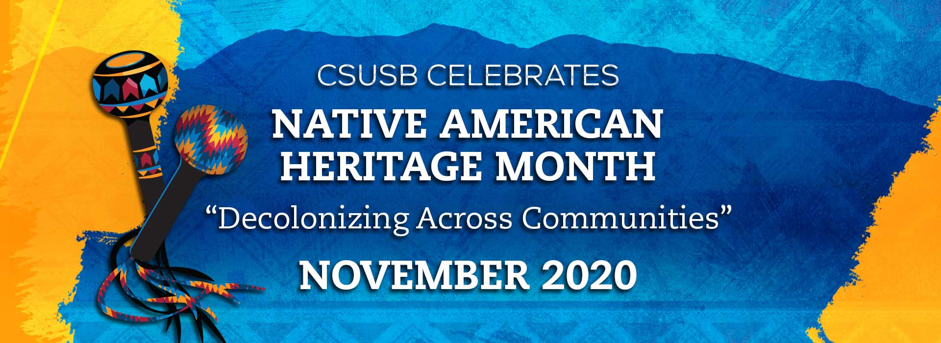 Native American Heritage Month 2020 banner