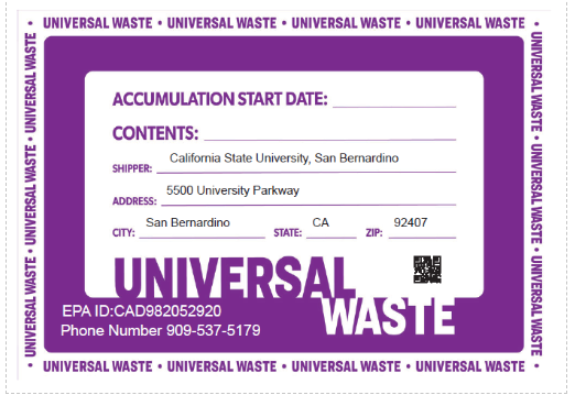 Example of Universal Waste