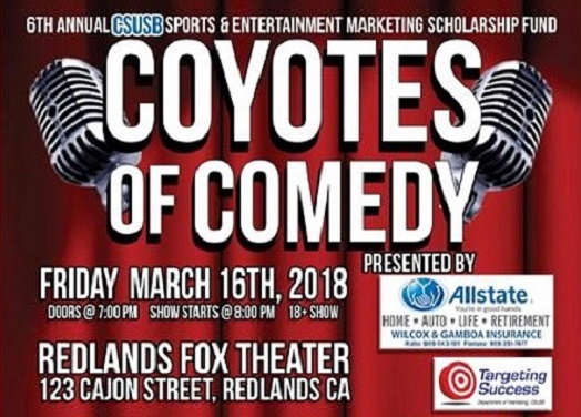 The Coyotes Of Comedy Show - March 16 2018 at the Redlands Fox Theatre