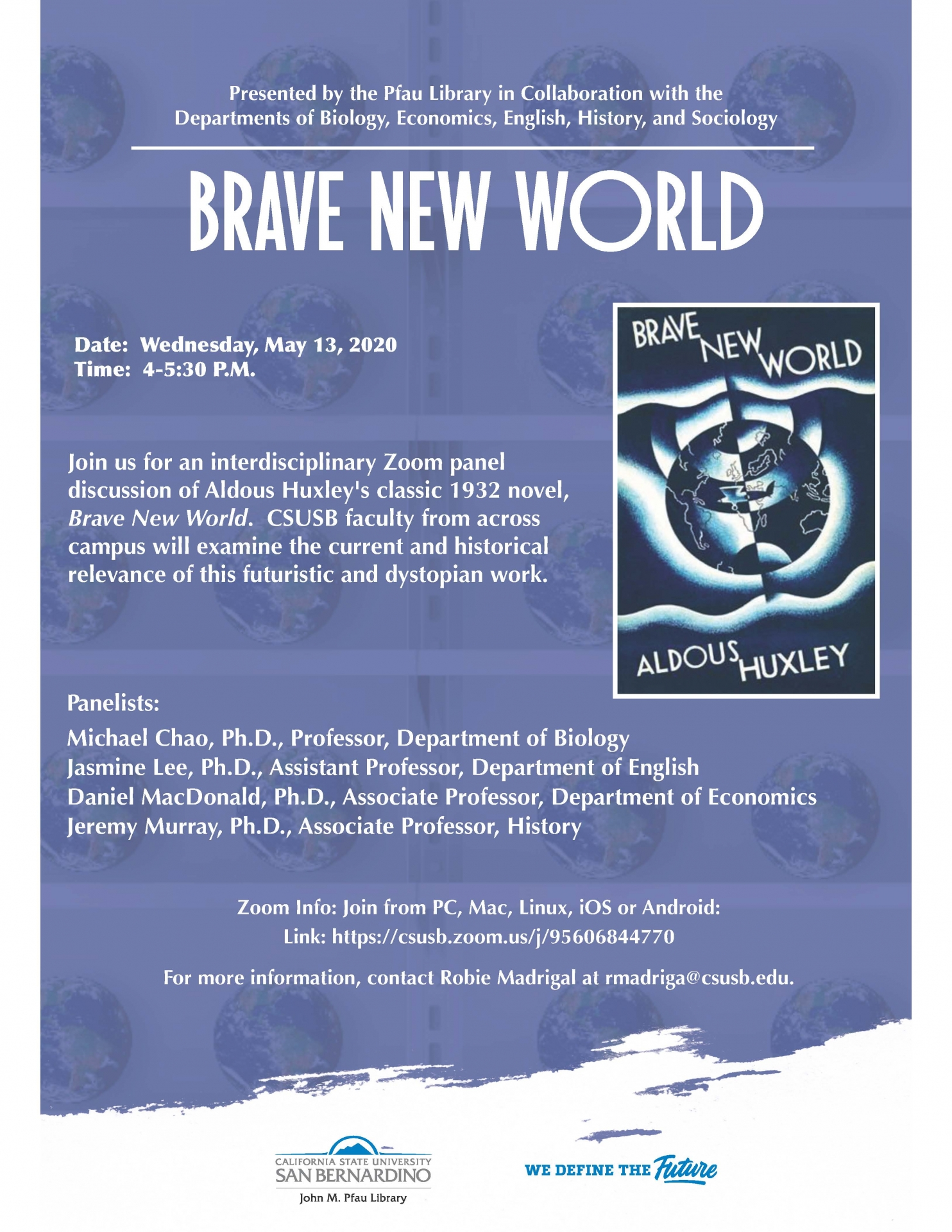 Library Brave New World panel discussion flier