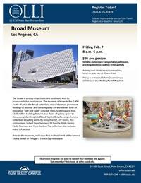 Broad Museum flyer