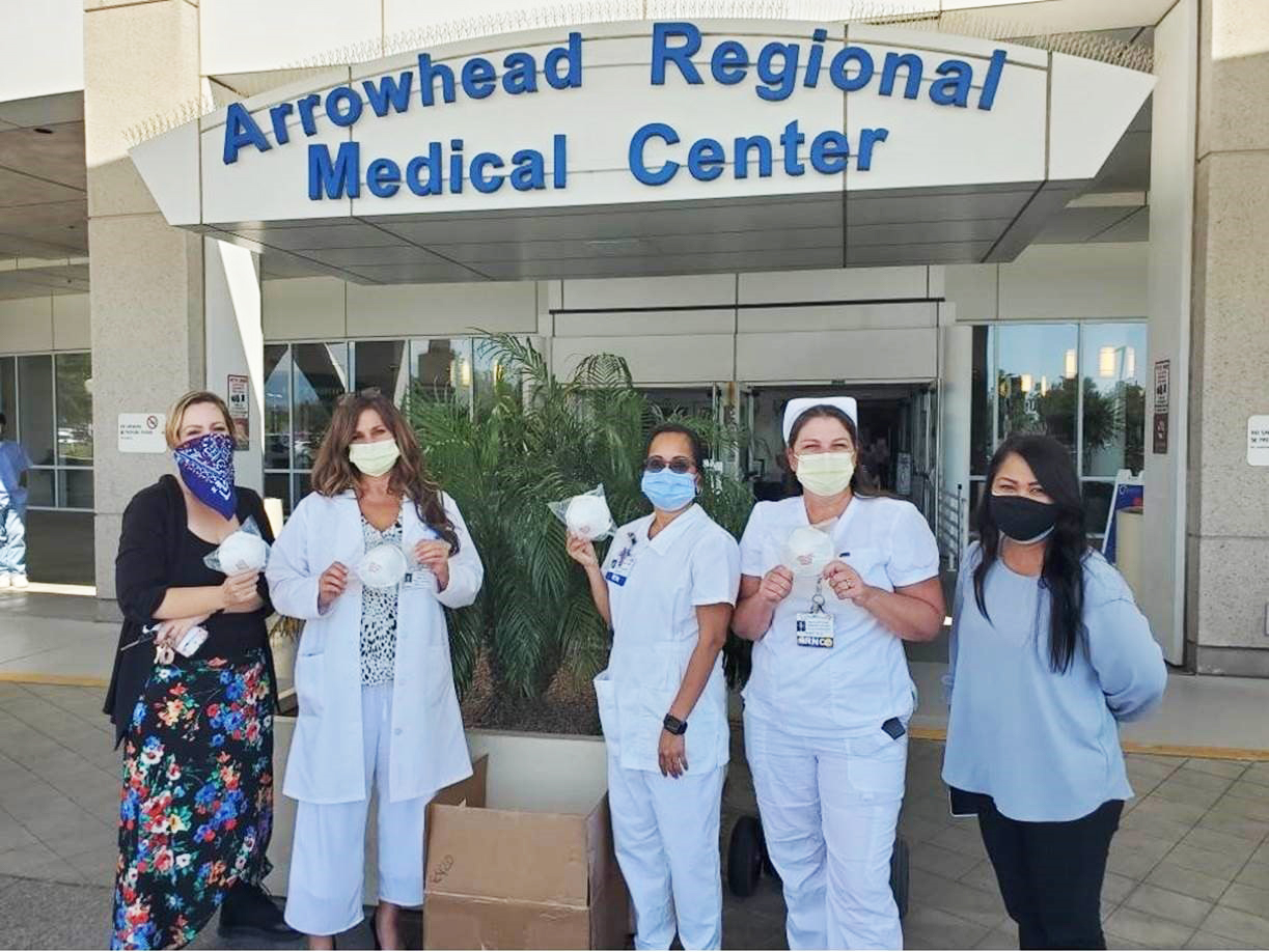 Thank you to our CSUSB students, in HSCI 359, section 71-Global Health, for working so hard to find the masks and having the idea to fundraise!