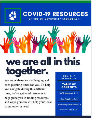 front page of COVID-19 Resource Guide
