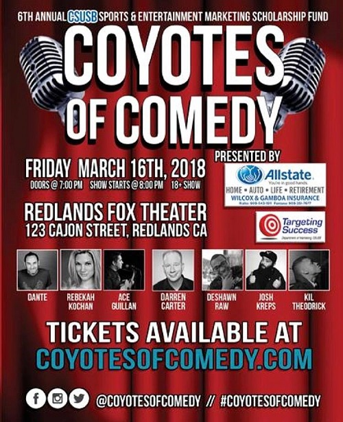 The Coyotes Of Comedy Show - Dante, Rebekah K, Ace G, Darran C, Deshawn R, Josh K, Kil T