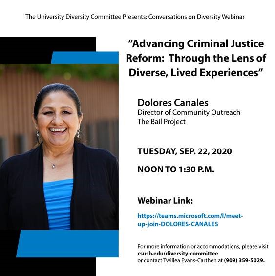 Conversations on Diversity Presents Dolores Canales