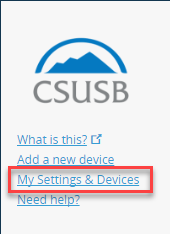 Duo Settings And Devices Option