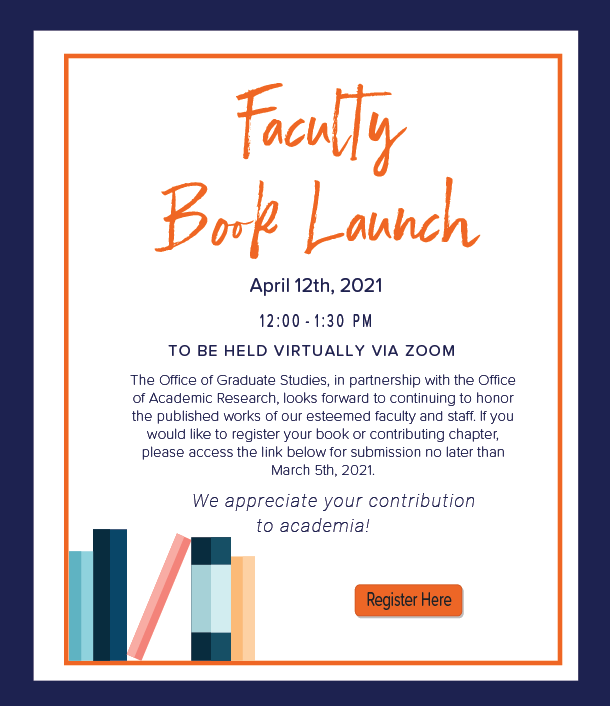 Faculty Book Launch Flyer