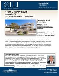 Getty Museum flyer