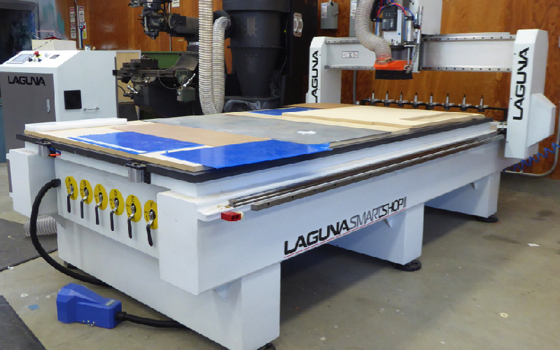 CNC router overall view.