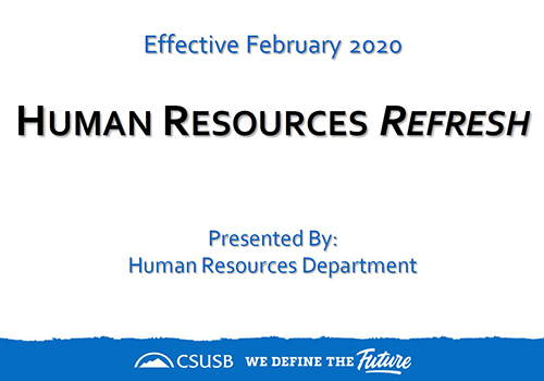 Human Resources Refresh Presentation