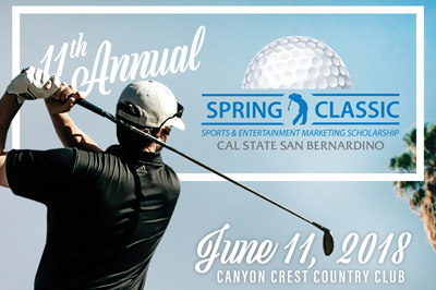 CSUSB Spring Classic happening on June 11th, 2018 at Canyon Crest Country Club!
