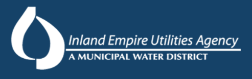 Inland Empire Utilities Agency: A Municipal Water District logo in blue and white