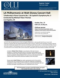 Disney Hall flyer