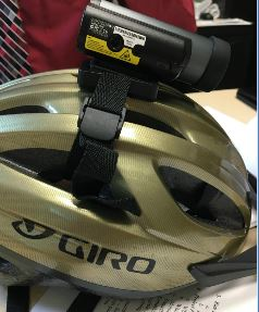 Video camera on top of a helmet