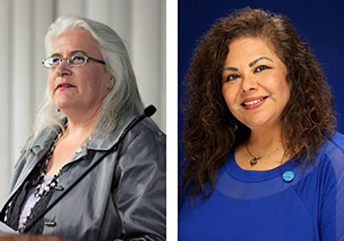 Marita Mahoney and Diana Quijano