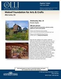 Maloof Foundation flyer thumbnail