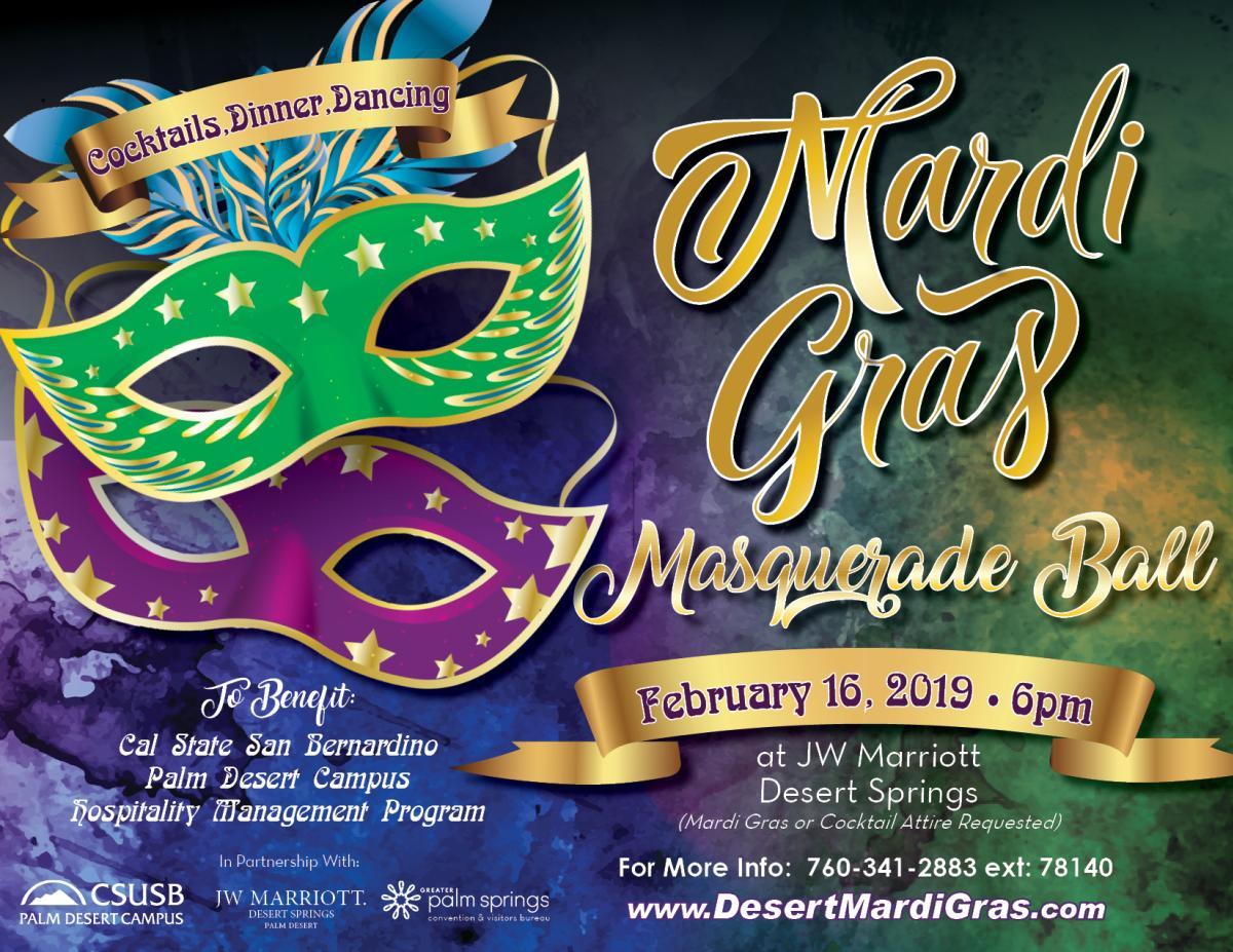 Mardi Gras event flyer