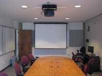 PL 5005M Projector and Screen
