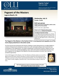 Pageant of the Masters flyer