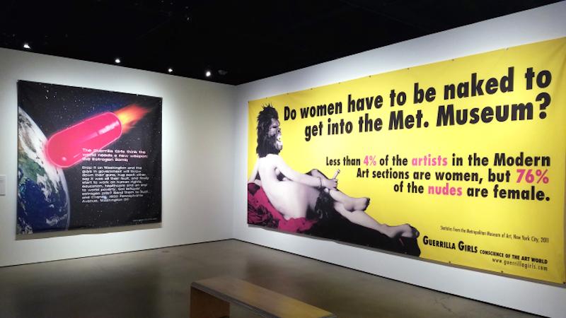 Art History - Guerrilla Girls Exhibition, RAFFMA, CSUSB, 2017