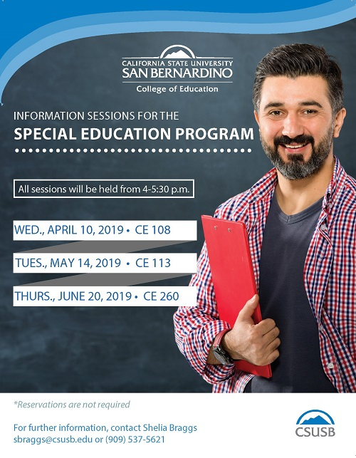 Special Education Information Sessions