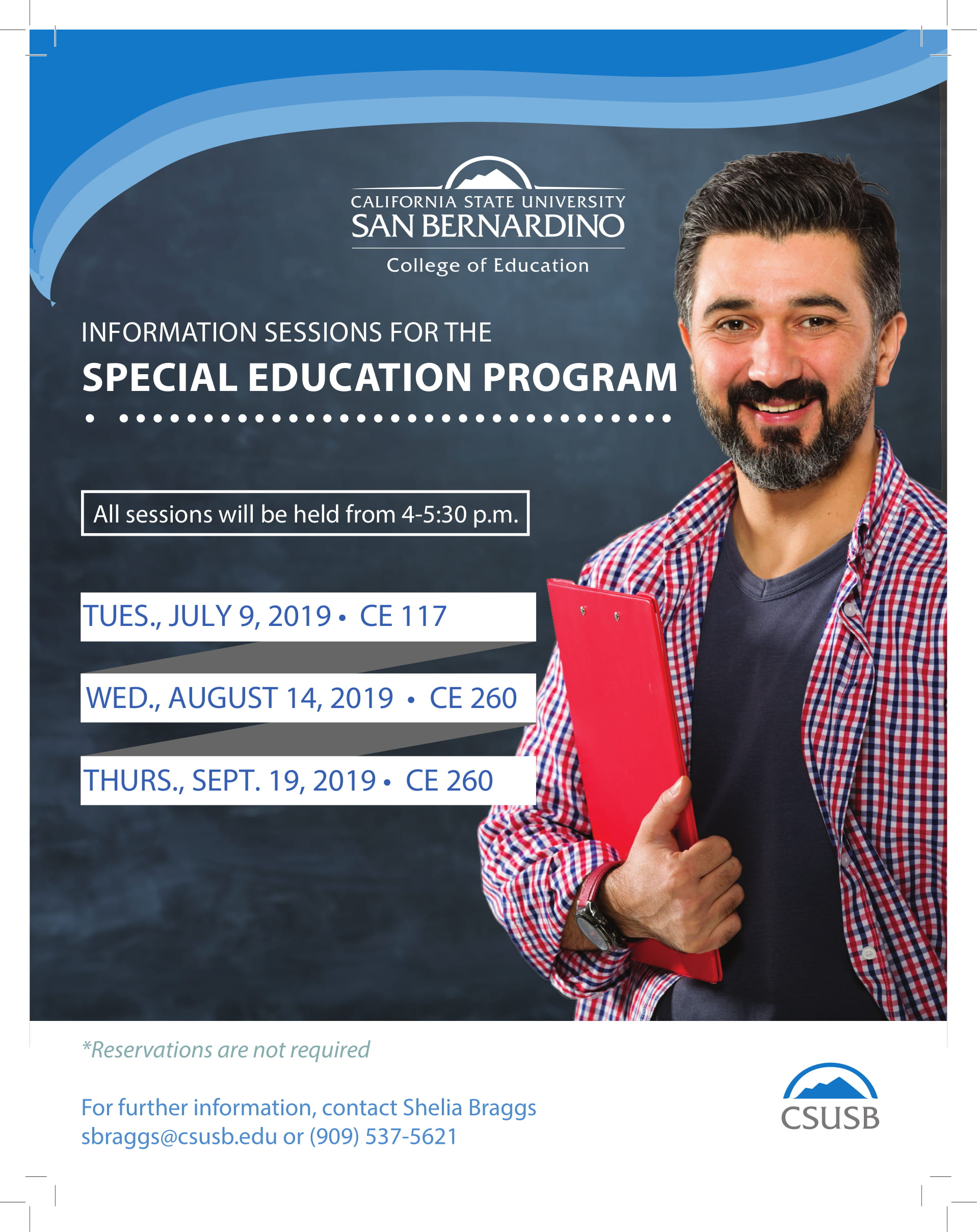 CSUSB - College of Education - Information Sessions for the Special Education Program