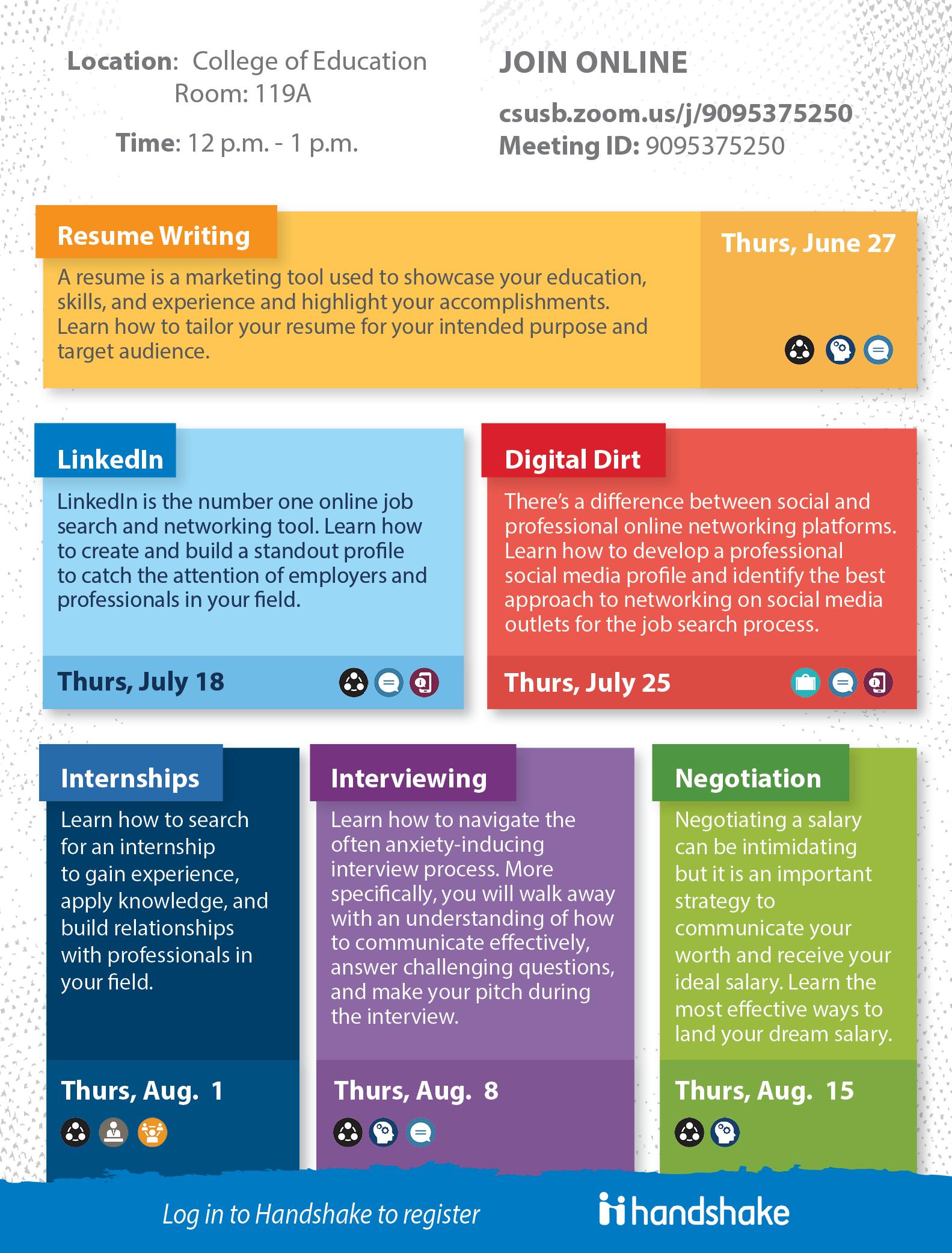 Summer 2019 Career Readiness Series