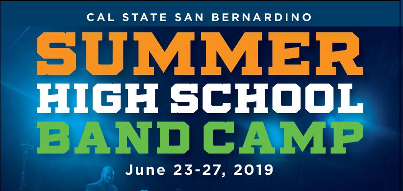 Summer Hugh School Band Camp June 23-27, 2019