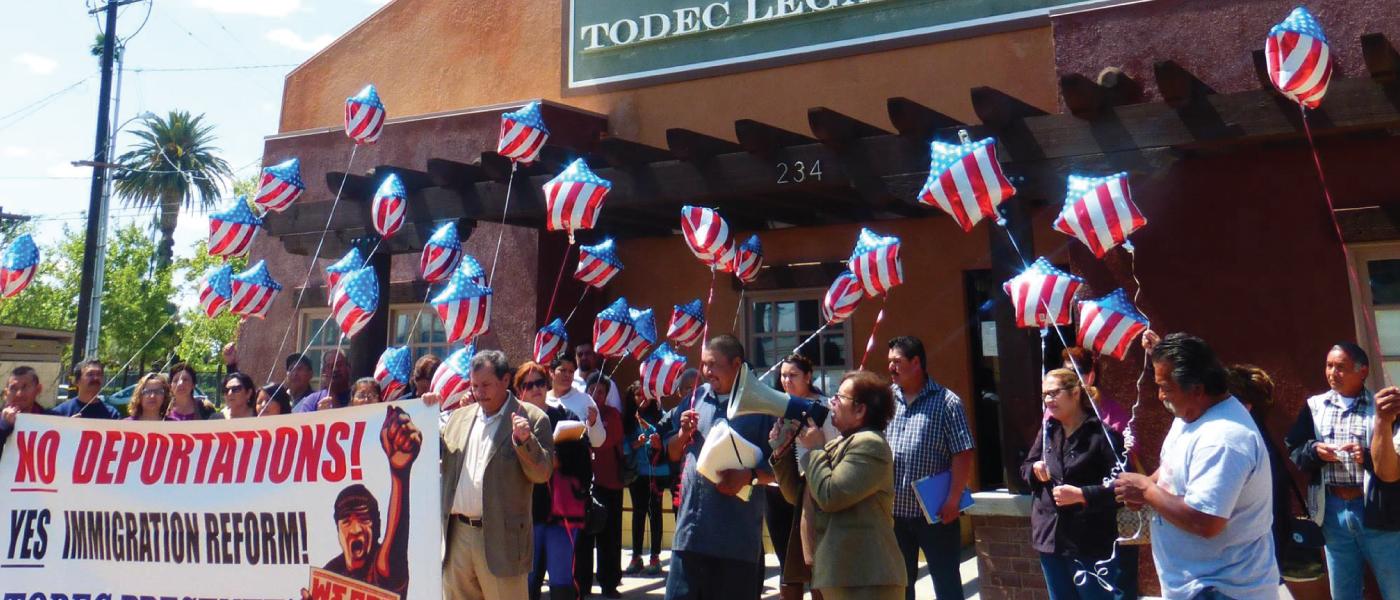 TODEC Legal Center - No deportations, immigration reform now