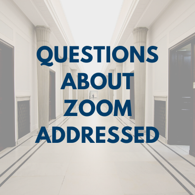 Questions about zoom answered