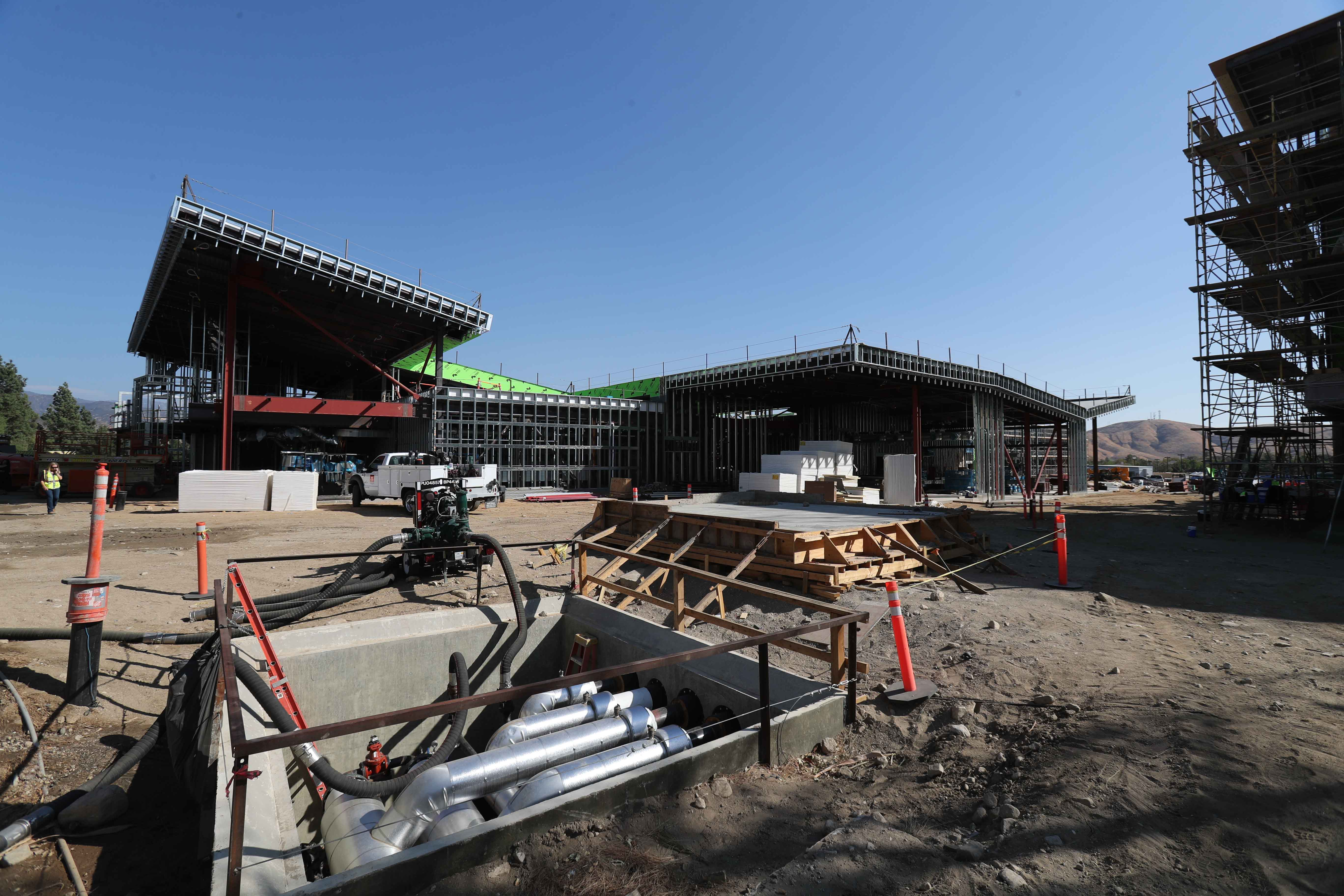CSUSB staff photographer Robert A. Whitehead documented the topping-out ceremony at the work site, near the Jack H. Brown College of Business and Public Administration