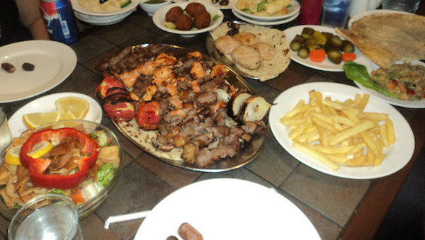 Table of Middle Eastern Food