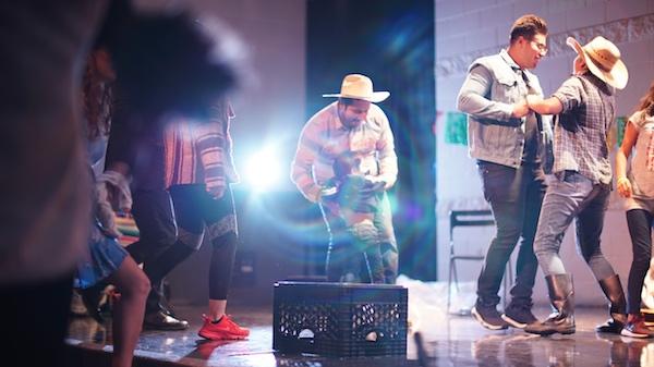 Scene from Acto Latino Play