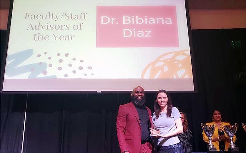 Dr. Diaz receiving award