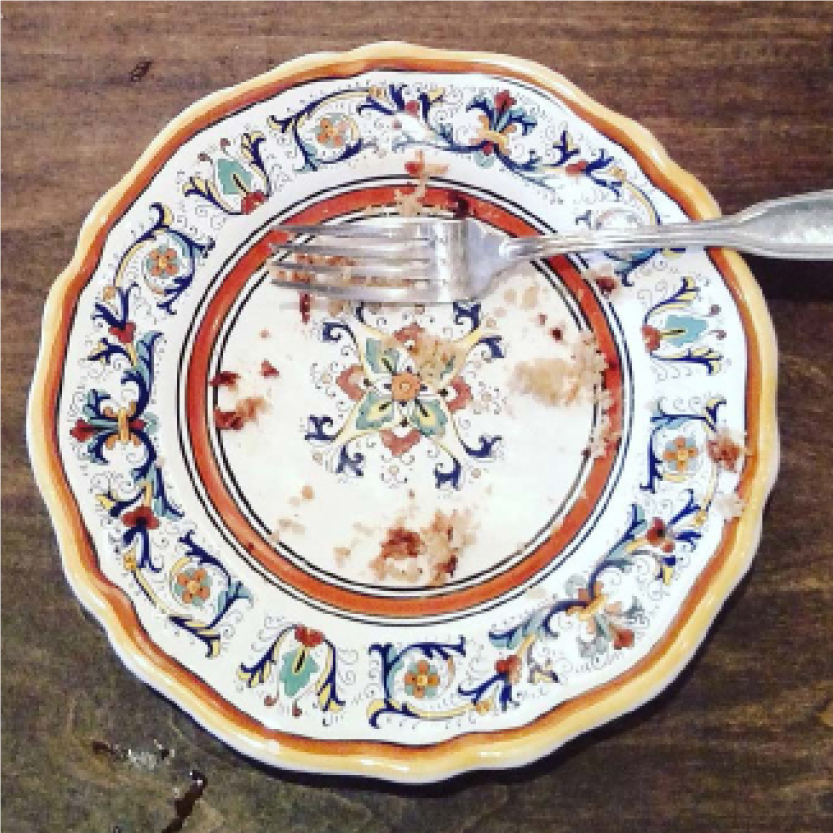 Decorative Chinese plate with fork