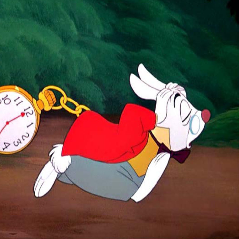 Rabbit with Clock