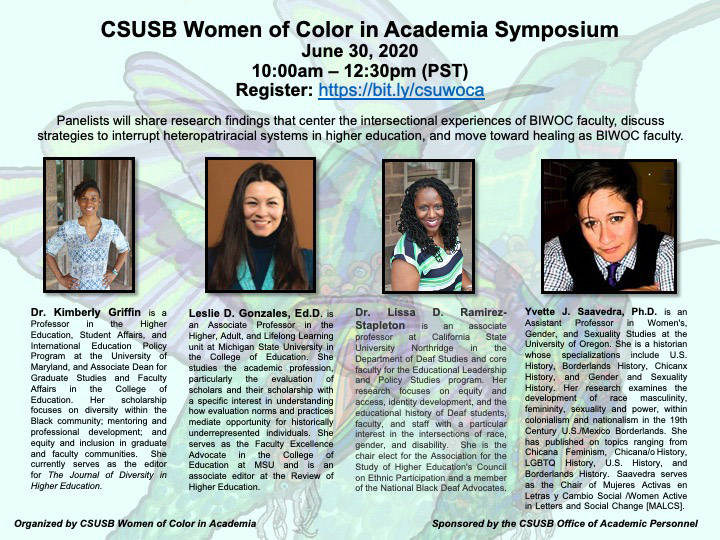 Women of Color in Academia panel