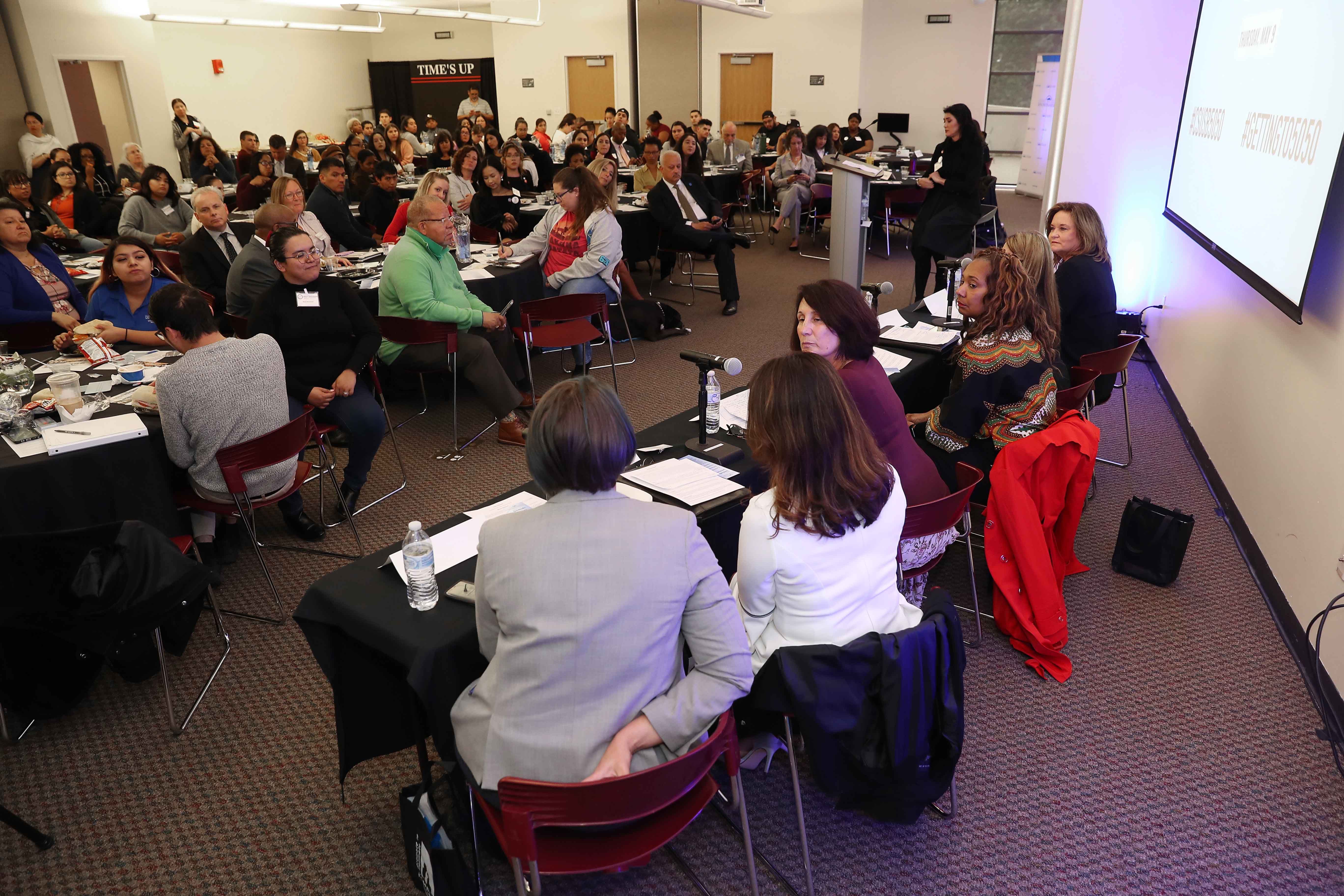 The event also featured a women's leadership panel,