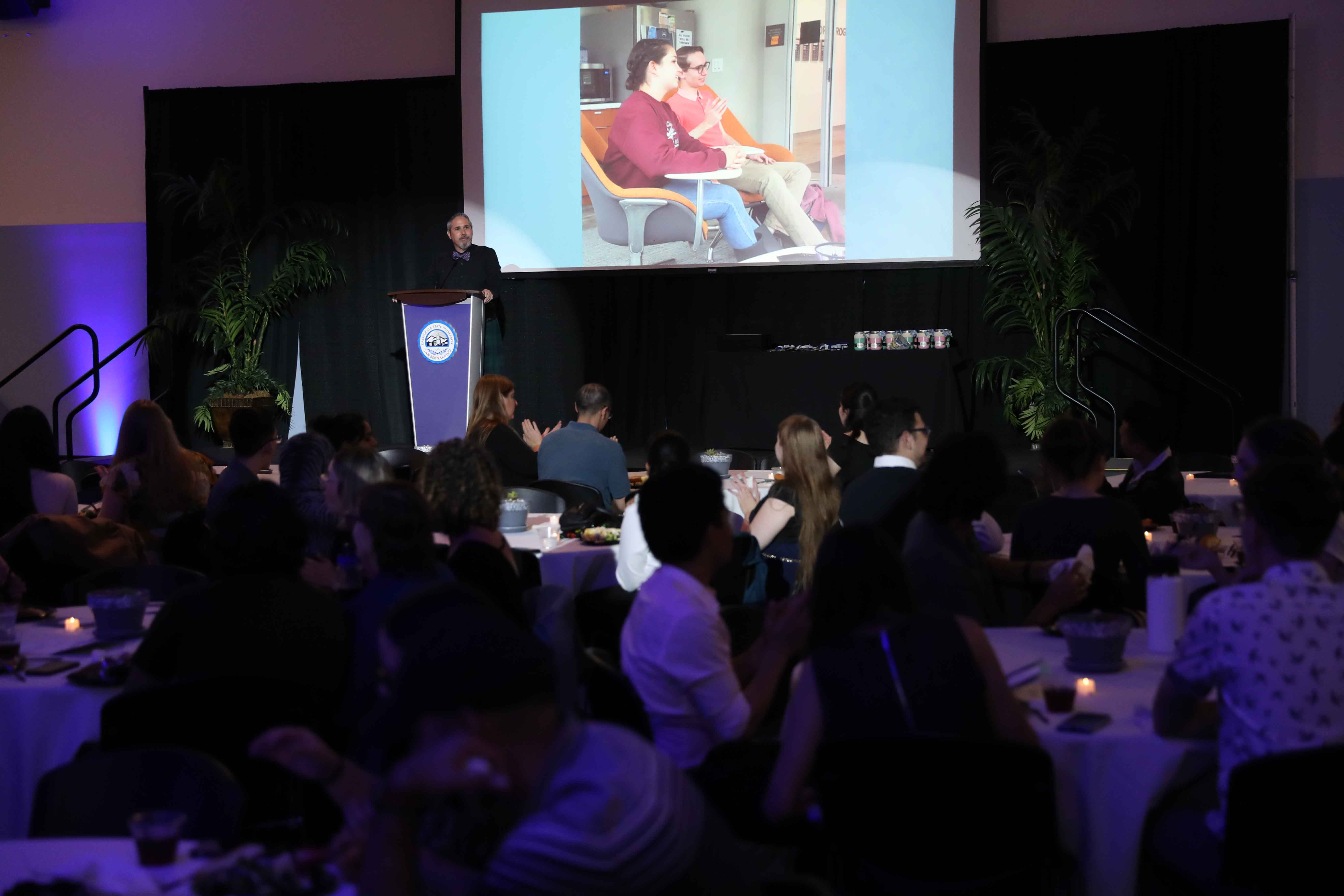 David Marshall, a professor of English who serves as the program's director, said the banquet recognized the outstanding work of the graduating seniors during their time at CSUSB.