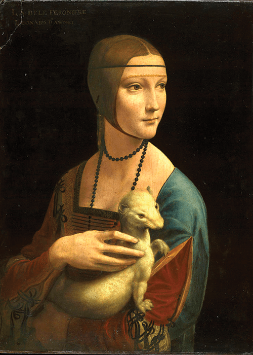 """Lady with an Ermine"" Leonardo da Vinci"