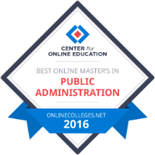 Center for Online Education - Best online Master's in Public Administration - Onlinecolleges.net - 2016