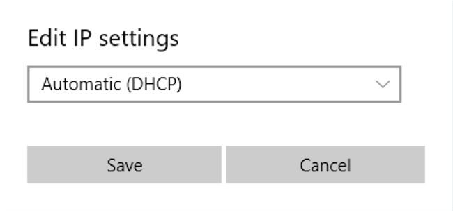 Changing Windows 10 Ethernet Setting