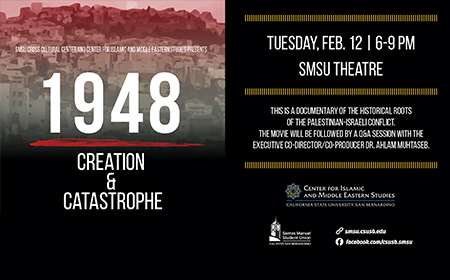 """1948"" Screening in SMSU by Dr. Muhtaseb"